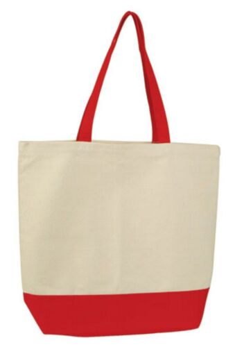 """Natural Cotton Canvas Reusable Grocery Shopping Tote Bags Gym Sports Books 17/"""""""
