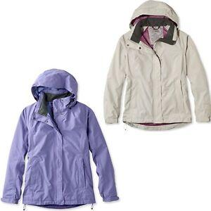 Ll Bean Womens Stowaway Gore Tex Rain Jacket Nwt Hooded
