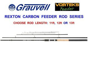 GRAUVELL-VORTEKS-REXTON-3pc-TWIN-TIP-CARBON-FEEDER-ROD-BARBEL-COARSE-FISHING