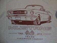 Ford Motor Company Mustang 50 year Anniversary Car Vehicle Gray T Shirt M