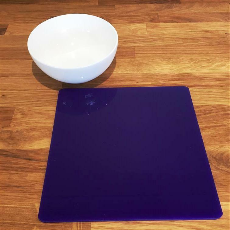 Square Shaped lila Gloss Acrylic Placemats, Sets 4 6 8, Größe 9  or 12