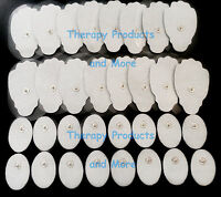 Tens Electronic Pulse Massager Pads(16 Lg +16 Sm Oval)for Digital Electrotherapy