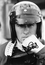 Jackie Stewart SIGNED 12x8  F1 BRM Portrait 1967 Grand Prix Season