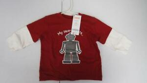 Gymboree-Valentine-039-s-Day-Red-Robot-034-My-Heart-Beats-034-Shirt-Top-6-12-Mos-NEW-TL25