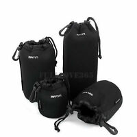 4pc S+M+L+XL Neoprene Camera DSLR Lens Soft Waterproof Pouch Bag Case Bag Set LC