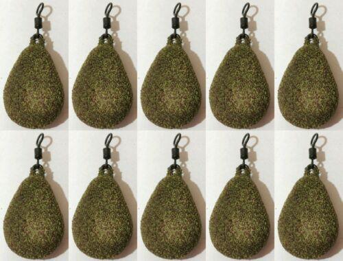 10x Fishing Flat  Pear Leads 1.5//2//2.5 //3 //3.5 //4//4.5oz TEXTURED Muddy Green