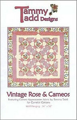 Tammy Tadd Vintage Rose Cameos Wall Quilt Pattern