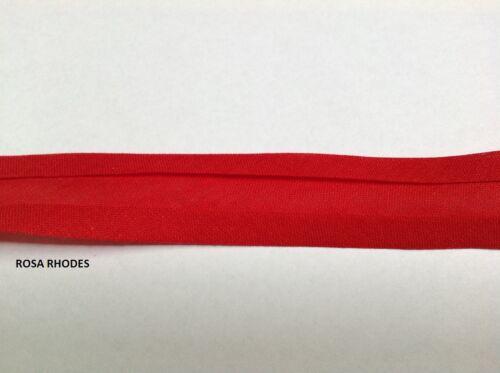 3 METRES  COTTON BIAS BINDING TAPE PLAIN 25mm