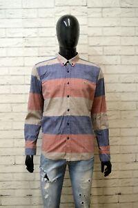 LACOSTE-Uomo-Camicia-Manica-Lunga-Camicetta-Taglia-45-M-Slim-Maglia-Shirt-Hemd