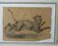 miniatuur 1 - Grand dessin E. Saulais Lionne courant fusain début XIXe suiveur Victor Adam