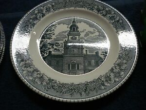 Details about Cavalier Ironstone Royal China USA 1' - Lot 2' Currier & Ives  The Old Mill Plate