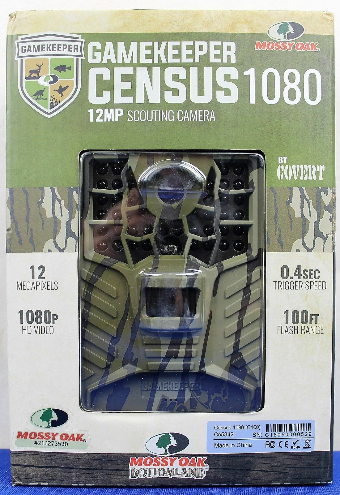 NEW Covert 1080 Mossy Oak Gamekeeper Census 1080 Covert  12MP Scouting Camera Co5342 ae2873