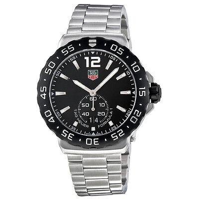 Tag Heuer Formula 1 Grande Date Black Dial Stainless Steel Mens Watch