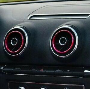 Bocchette-Aria-dell-039-auto-in-Lega-di-Alluminio-Anelli-Decorativi-per-Audi-A3