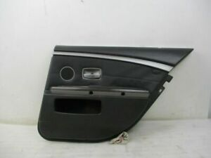 Door Panel Right Rear Black Leather BMW 7 (E65, E66) 730 LCI Facelift