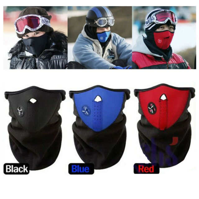 Plain Black Neoprene Half Face Mask For Cold Weather Cycling Motorcycle Riding For Sale Online Ebay