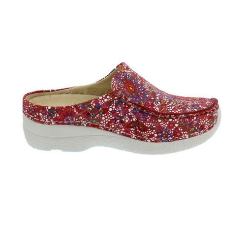 Wolky Seamy-Slide Mosaic suede Red summer Clog 0625042-570 wolky