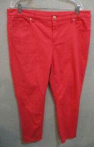 So-Slimming-Girlfriend-Ankle-Jeans-By-Chicos-Size-3-16-Coral-Pink