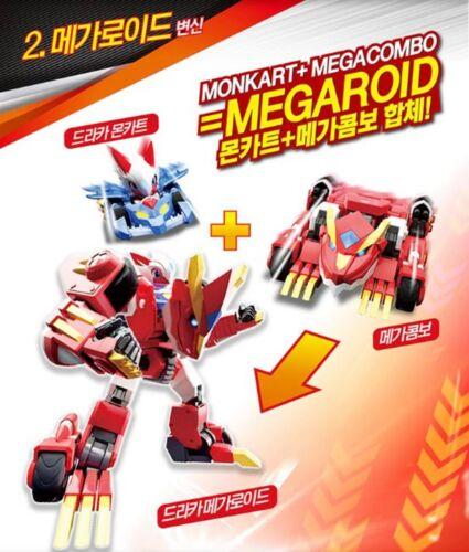 MEGACOMBO MEGAROID 7-Transformer Robots Mini Cars Card Play Kids Toy MONKART