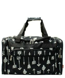 Canvas-20-carry-on-airplane-duffle-gym-overnight-bag-NWT-FREE-SHIP-Black-Arrow