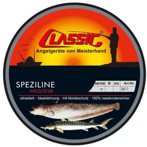 0,05€//1m Paladin Classic Speziline Wels Stör transparent 100m 0,60mm 21kg
