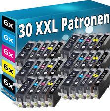 30 PATRONEN SET CHIP für CANON IP3300 IP3500 IP4200 IP5200R IP4300 IP4500 MP970