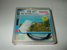 HAMA 71143 ~  Sky 1A Filter ~ 43 mm ~  UV Absorber LA+10  .... (F6)