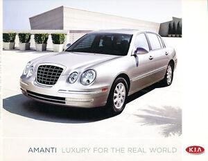 2004 Kia Amanti 20-page Original Car Sales Brochure Catalog