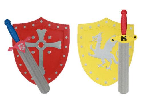 Ritter 2er Set Schwert Schild Spielzeug Zubehör Fasching Karneval Schaumstoff