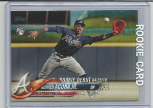 Details About 2018 Toppsupdate Ronald Acuna Jr Rookie Card Debut 042518 Us252 Braves