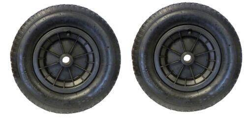 """Pack de 2 noir 14/"""" brouette roues 3.50-4.00-8 remplacement gonflable pneu"""