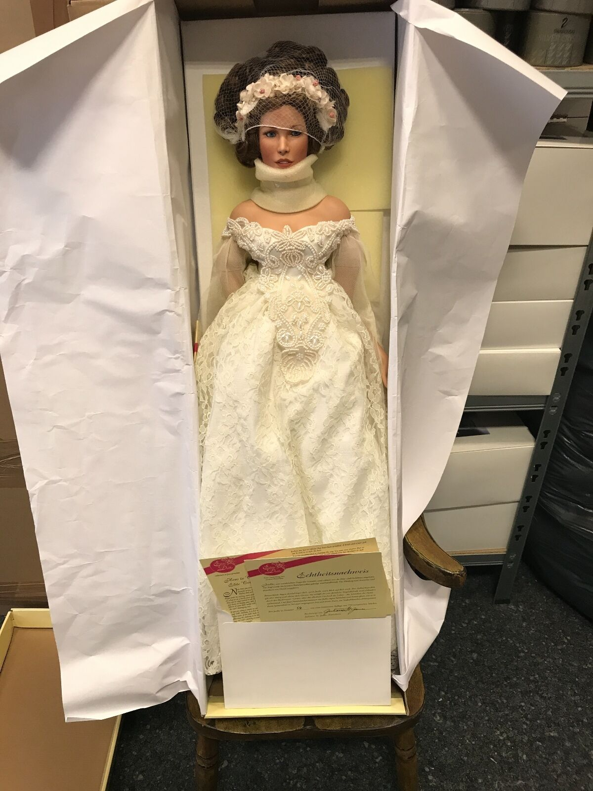 Künstlerpuppe Porzellan Doll 70 cm. Top Zustand.