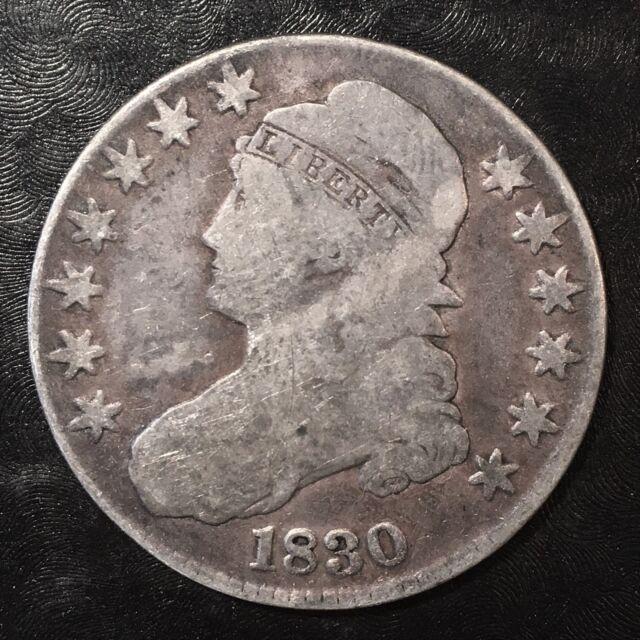 1830 Bust Half Dollar - High Quality Scans #F311
