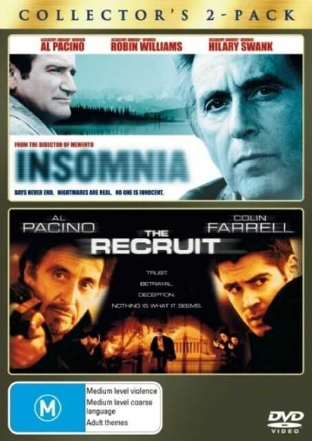 INSOMNIA / THE RECRUIT DVD R4 (2008) 2-MOVIE PACK 2-DISC SET Al Pacino - VG