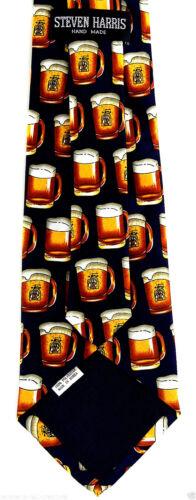 Oktoberfest Mens Necktie Beer Themed Blue Neck Tie Novelty German Bier Gift