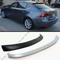 Vip Style Rear Roof Spoiler+ Trunk Lid Wing For 2014-16 Lexus Is250 Is350 Is200t