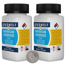 Potassium Hydroxide 6 Ounces 2 Bottles 99 Pure Food Grade Fine Flakes