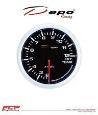 DEPO RACING GETÖNTE DIGITAL ABGASTEMPERATUR ANZEIGE / EGT GAUGE WS-W5257B 52mm