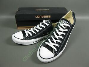 NEW-Converse-All-Star-OX-Black-Shoe-Pair-X9166-Unisex-Size-Men-12-Women-14-Box