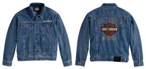 68631e18a2e7 Details zu Jeans Jacke Harley-Davidson Bar & Shield Denim Herren - Blau *  Gr. XXXL