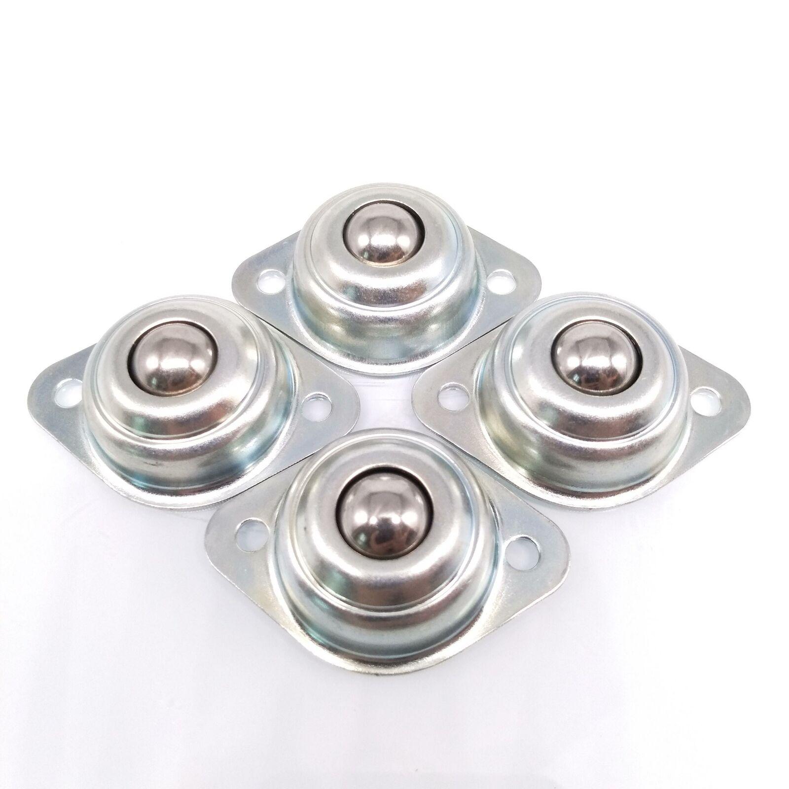 Steel Roller Ball Transfer Bearing Silver Ball 15mm Nylon