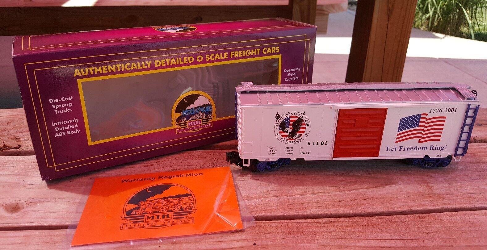 MTH Premier Premier Premier 20-93092 American Freedom 40' Single Door Box Car NOS O Scale a9aacf