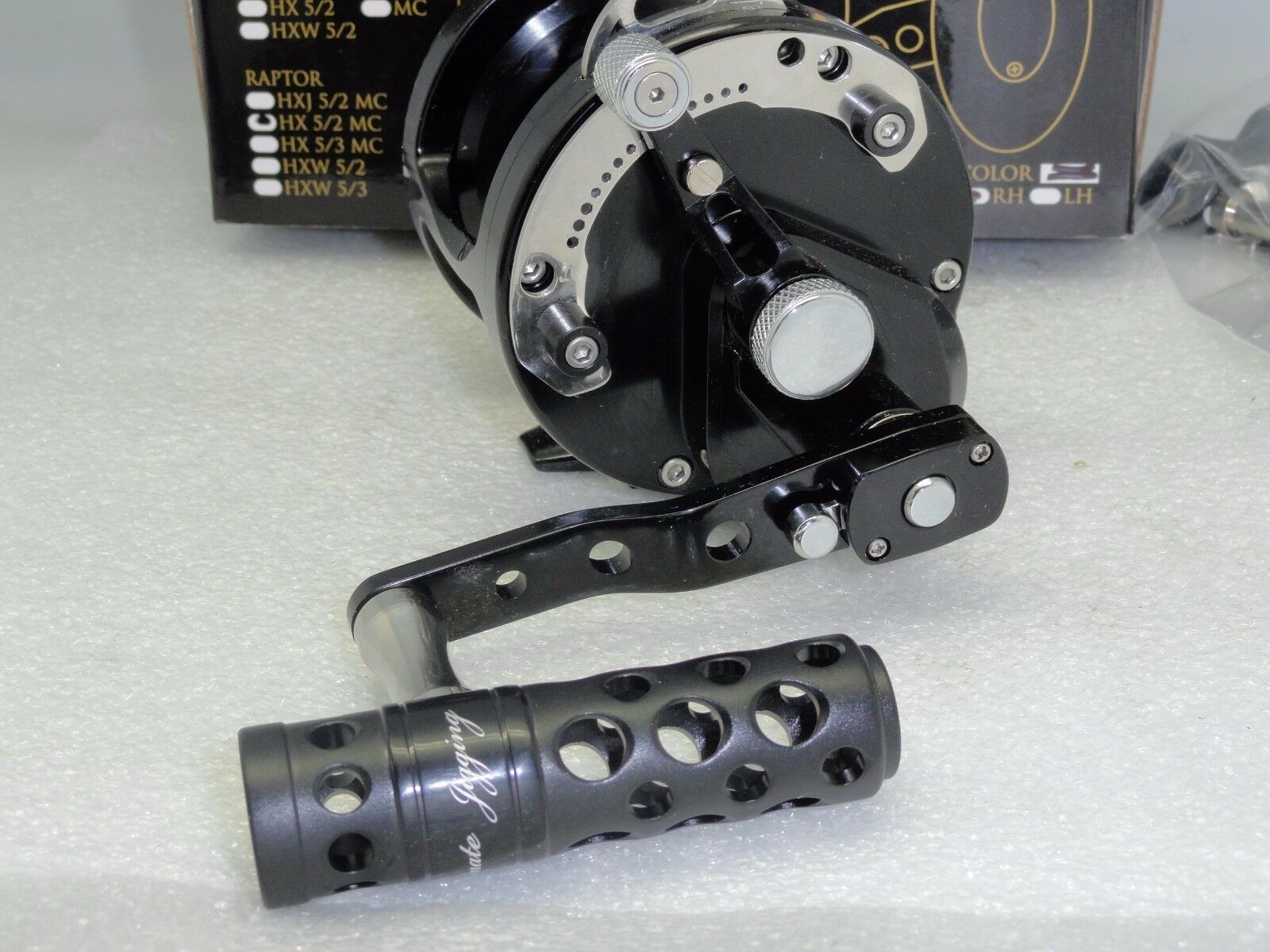 UJ T-BAR T052-A T-BAR UJ handle knob direct fit Avet SX MX LX HXW MC Raptor reel Gunmetal 6ed5ea