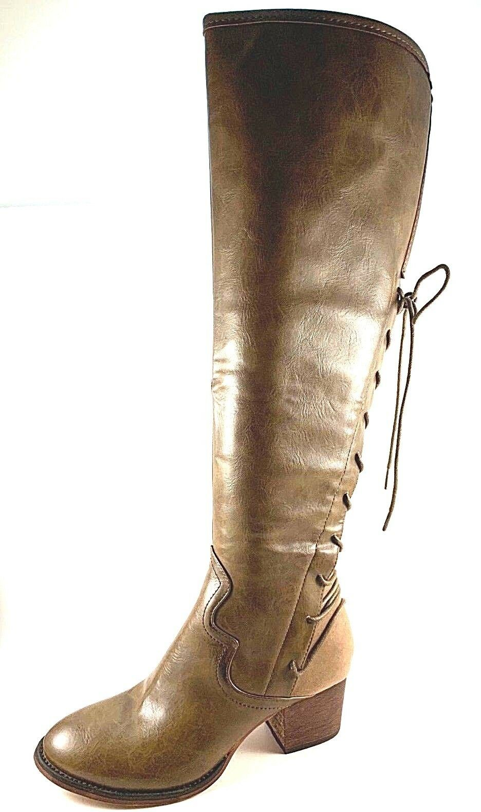 Wanted Ogden Over the Knee Mid Heel Boots Boots Boots Choose Sz color b27155