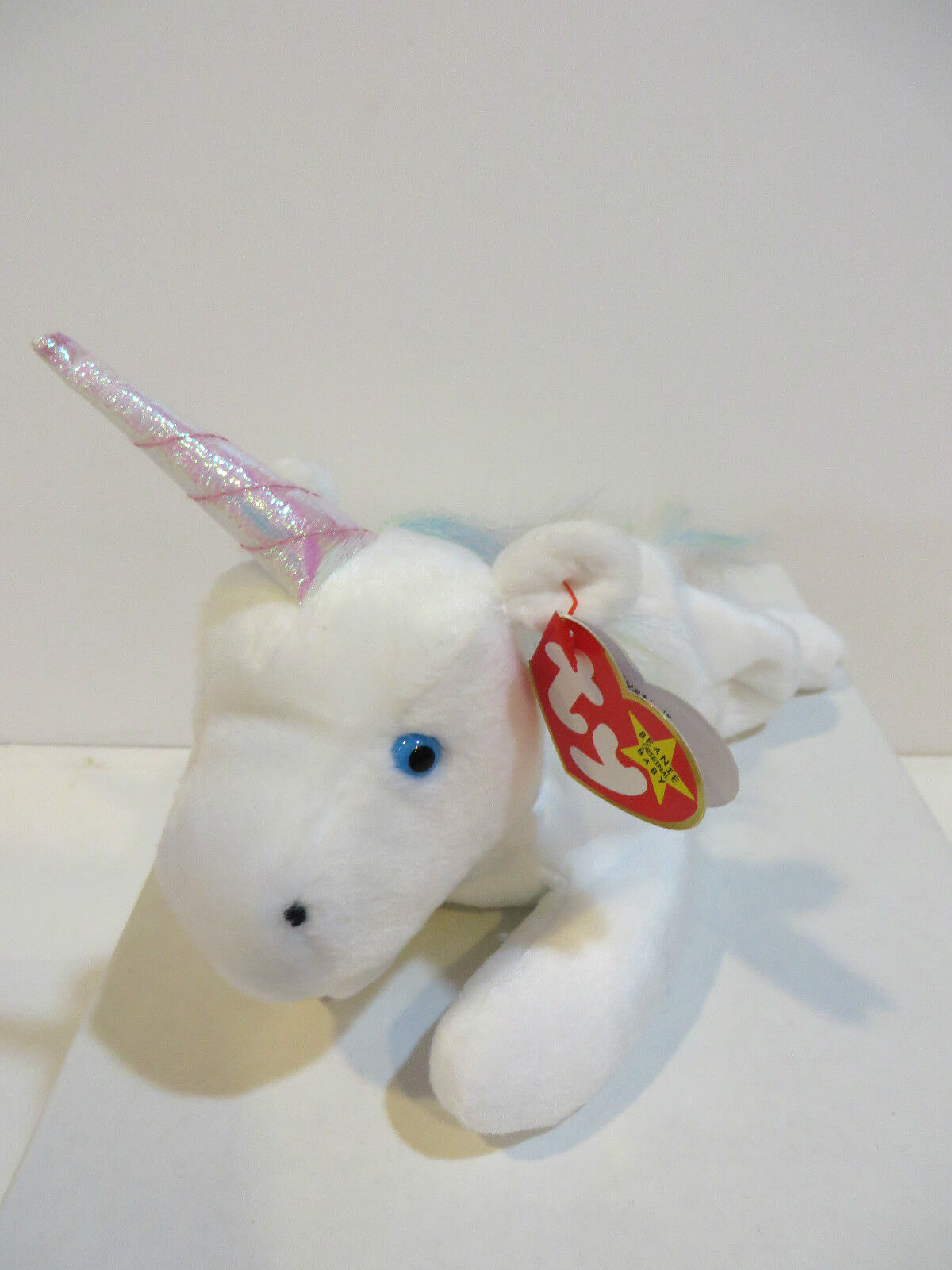 BEANIE BABIES - MYSTIC   UNICORN WITH PINK HORN & MULTI-colorD MANE