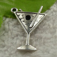 free ship 120 pieces tibet silver cup charms 30x22mm #4203