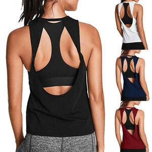 New-Women-Activewear-Sexy-Open-Back-Yoga-Shirt-Workout-Sport-Gym-Tank-Top-Blouse