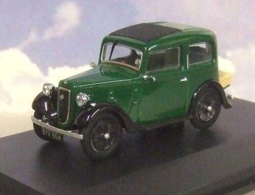 Oxford Diecast 1/43 1934 Austin Sieben 7 Rubinrot Saloon in Dunklen Grün/Schwarz Spielzeugautos