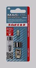 MAGLITE LMXA501 Flashlight Replacement Bulb Lamp 5-Cell C & D Xenon Bi-Pin New!