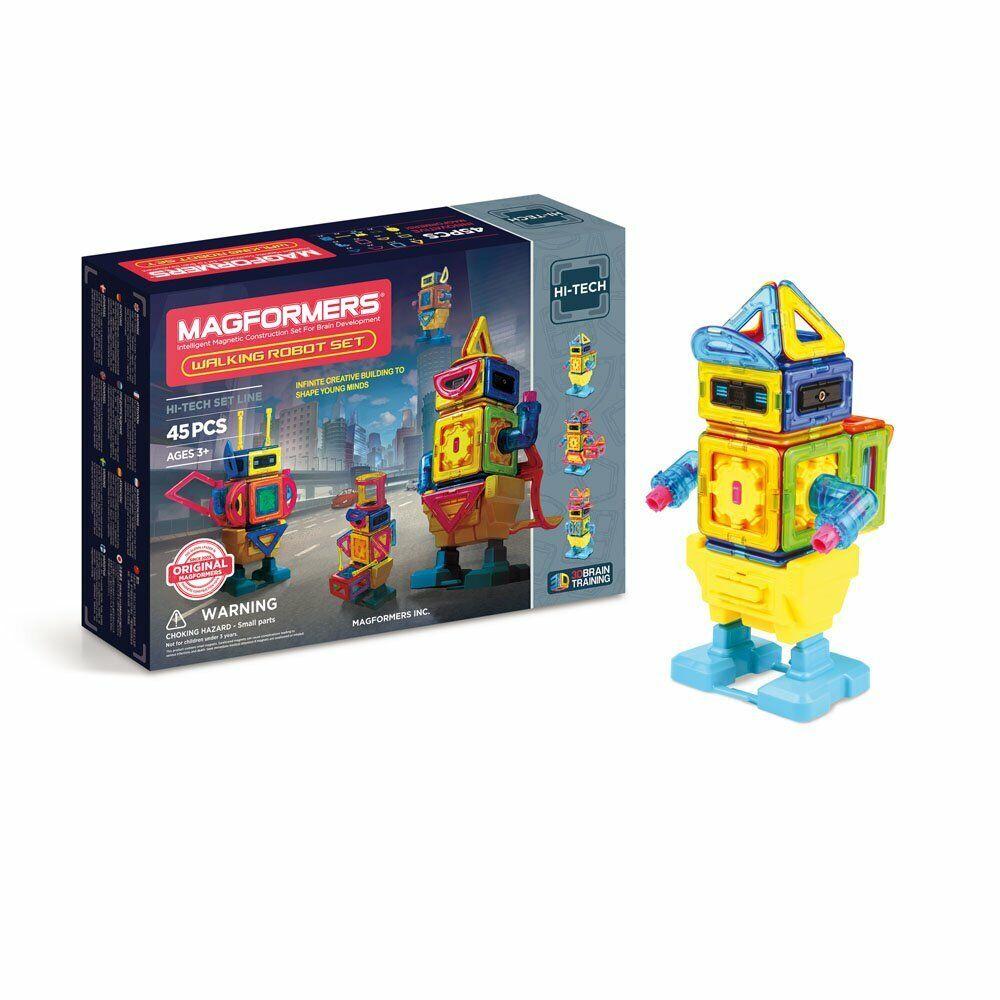 Magformers Walking Robot Set 45 PCS Costruzioni Magnetiche per Bambini